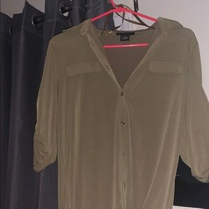 Grace Army Green Button Down